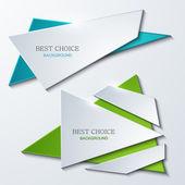 Vector moder banners element design. — Stock Vector
