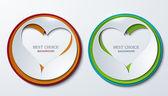 Set de iconos vectoriales corazón círculo. — Vector de stock