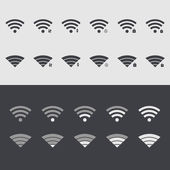 Vector modern wi fi set icons. Web element design — Stock Vector