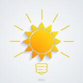 Vector modern idea with sun background — Stock Vector