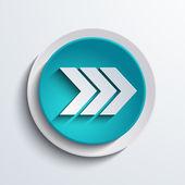 Vector modern blue circle icon. Web element — Stockvector