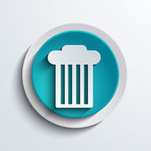 Vector modern blue circle icon. Web element — Stock Vector