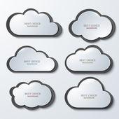 Vector modern clouds banners set. — Stock Vector