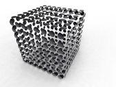 Black circle cube — Stock Photo