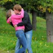 Young couple kissing — Foto Stock