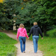 Young couple in park — Stock Photo #13408645