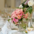 Table set for an wedding party — Stock Photo