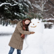 Happy woman in winter — Stock Photo #13658757