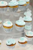 Colorful wedding cupcakes — Stock Photo
