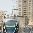 Jerusalem Light Rail tram train - Stock Photo