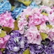 Stock Photo: Roses bouquets background