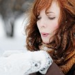 Young woman having fun in winter — Stock Photo #32266073