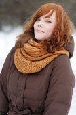 Young beautiful woman in winter — Stock Photo