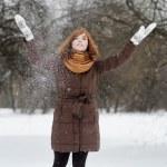Fun in winter — Stock Photo