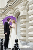 Bride and groom together — Stock Photo