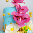 Delicious multicolor wedding cake — Stock Photo #44187913