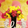 "Table set for wedding reception (focus on word ""love"") — Stock Photo #45233029"