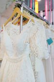 Beautiful wedding dresses — Stock Photo