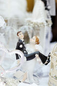 Funny figurines bride and groom — Stock Photo