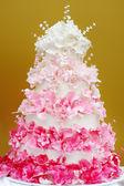 Lahodný svatební dort — Stock fotografie