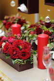 Table set for an romantic dinner — Stock Photo
