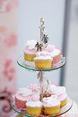 Delicious colorful wedding cupcakes — Stock Photo