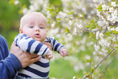 Baby boy portrait outdoors — Foto de Stock
