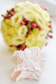 Elegant bride garter — Stock Photo