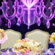 Table set for wedding reception — Stock Photo #47037081