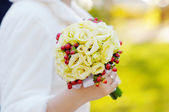 Beautiful wedding flowers bouquet — Stock Photo