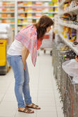 Customer at groceries store — Foto Stock