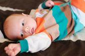 Newborn baby boy portrait — Stock Photo