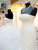 Beautiful wedding dresses — Stock Photo
