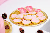 Pink cookies — Stock Photo