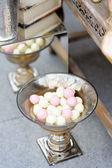 Part of stylish sweet table — Stock Photo