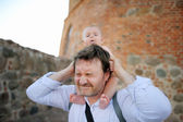 Father and his little son — Stock Photo