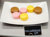 Multicolored macaroon cookies — Stock Photo