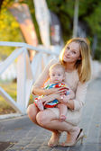 Mother with her little baby — Stock Photo