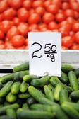 Fresh vegetables at farmers market  — Stock Photo