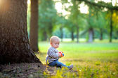 Little baby boy at the sunny park  — Foto Stock