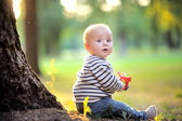 Little baby at the park  — Foto Stock
