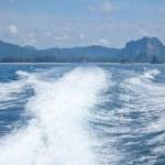 szybkiej łodzi wniosku umyć — Zdjęcie stockowe