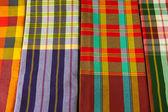 Kostkovaná tkanina — Stock fotografie