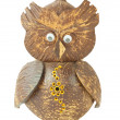 Wooden carved Owl — Stock Photo