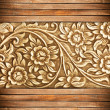 Wood frame carve flower — ストック写真 #12372312