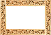 Flower carved frame — Foto de Stock