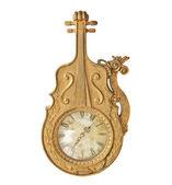 Antique gold clock — Stock Photo