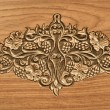 Flower carved on wood — Photo