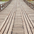 Rope walkway through — Stock Photo