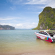 Speed boat in tropical sea — Stock Photo #12419034